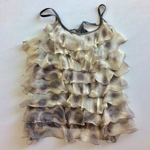 Per Una Speciale Two Tone Ruffled Top Size 14